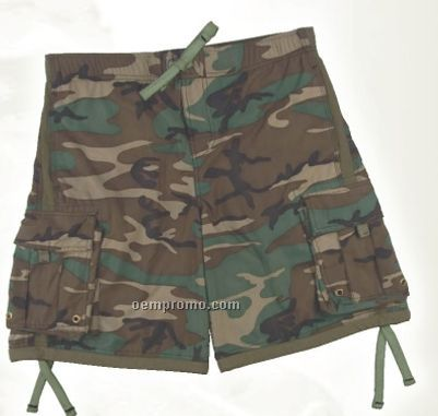 Men's Woodland Camouflage Swim Trunks