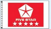 Standard Double Face Dealer Logo Spacewalker Flag (Five Star Red)