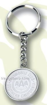 Value Line Round Key Ring (Laser Engraved)