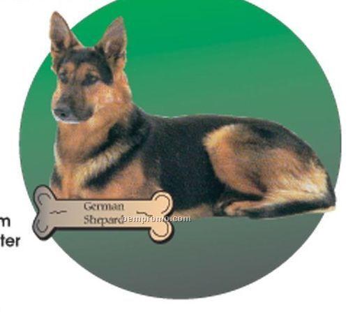 German Shepherd Dog Acrylic Coaster W/ Felt Back