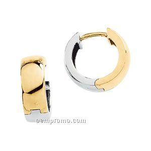 Ladies' 14ktt 13-3/4mm Hinged Earring