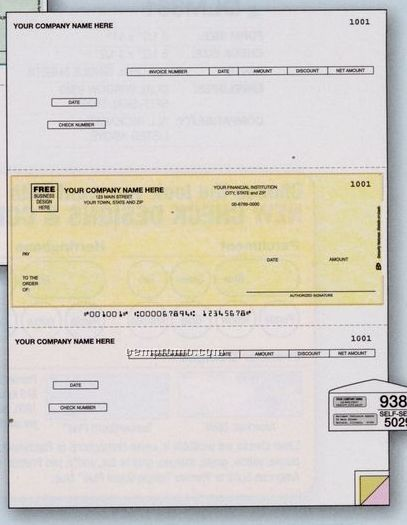 Laser Accounts Payable Check - Peachtree Compatible (3 Part)