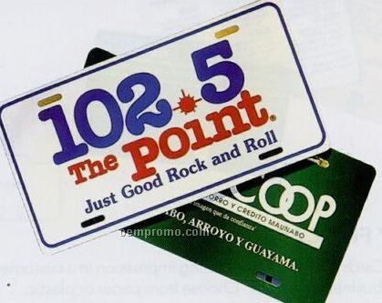Blank Poly License Plate (0.023 Gauge)