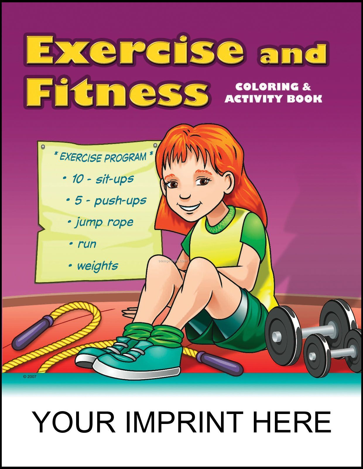 Exercise & Fitness Coloring & Activity Book