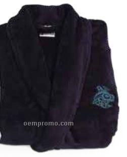 Midnite Navy Blue Velura Robe (L-xl)