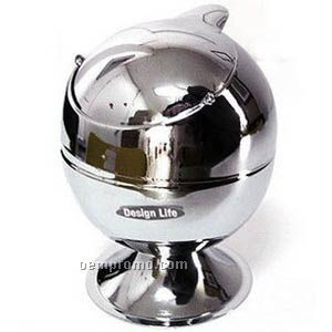 Stainless Pedestal Ashtray