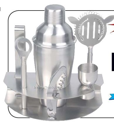 Wyndham House 7 PC Stainless Steel Bar Set