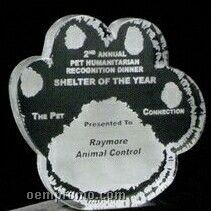 Acrylic Paperweight Up To 12 Square Inches / Paw Print