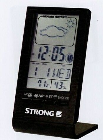 Desktop Clock With Weather Station