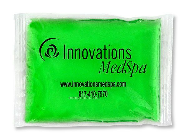 "Green Stay - Soft Gel Pack With Black, Blue Or Red Surface Imprint (6""X8"")"