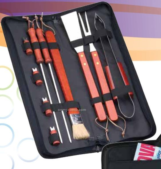 10-piece Bbq Set With Skewers & Fork