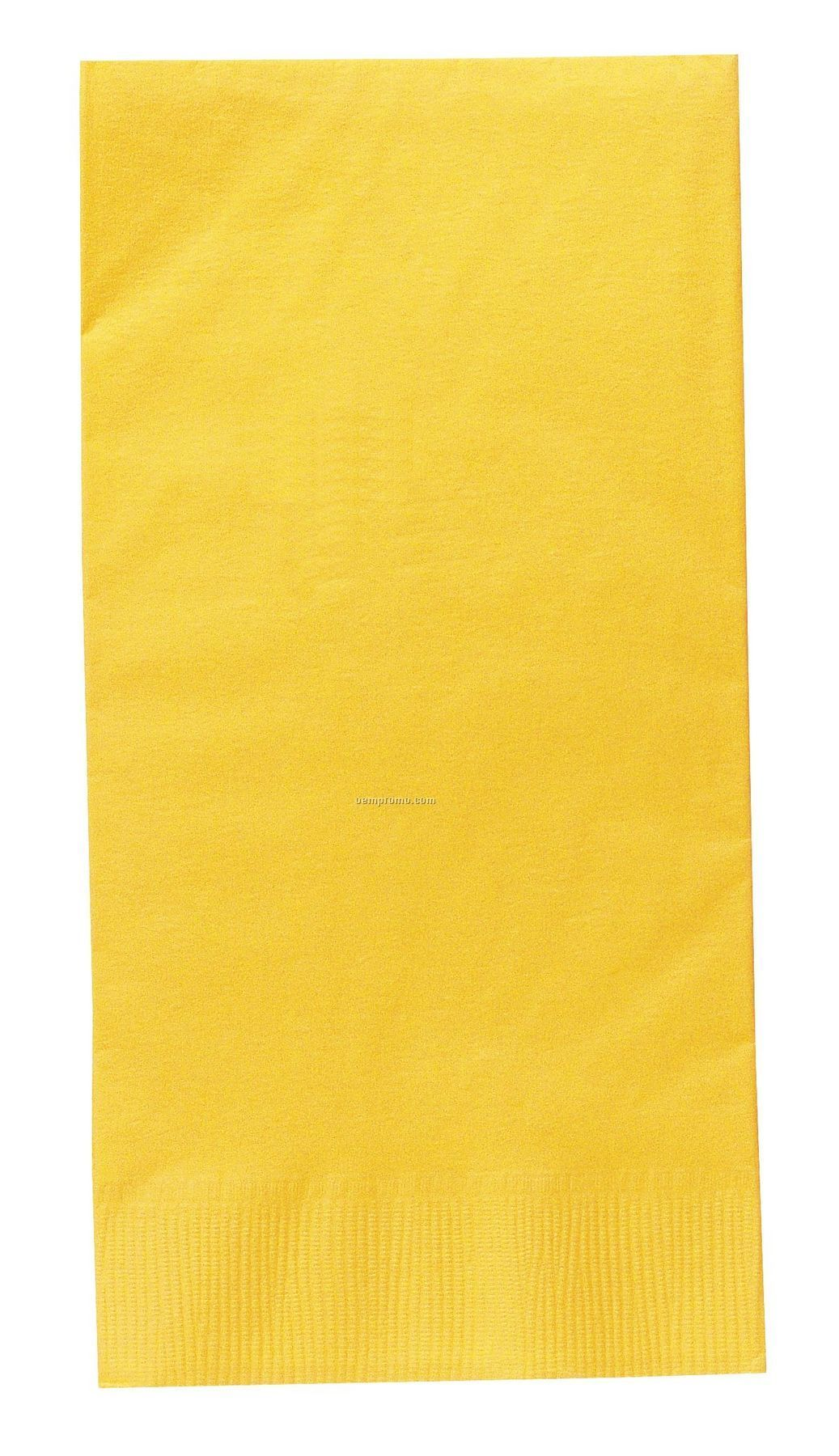 Colorware Mimosa Yellow Dinner Napkins With 1/8 Fold