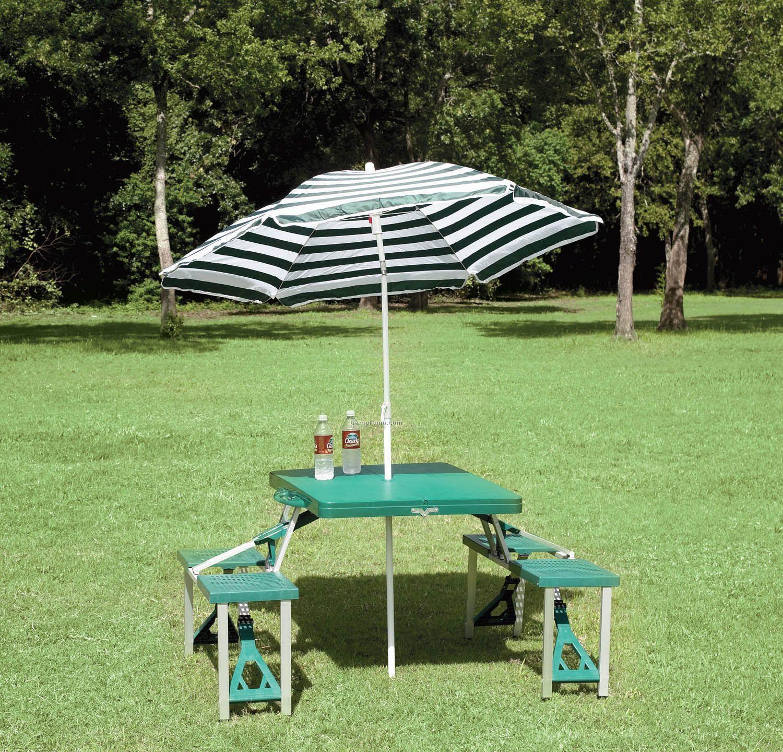 Texsport Folding Picnic Table With Umbrella