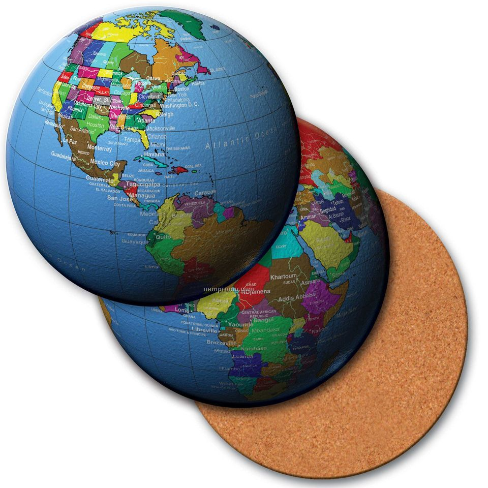 4 round coaster w3d lenticular images of a map of the world 4 round coaster w3d lenticular images of a map of the world gumiabroncs Images