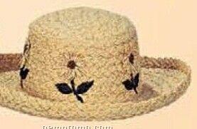 Ladies Straw Hat W/ Daisies
