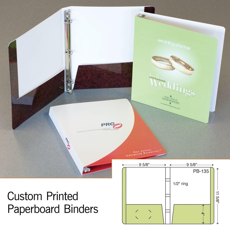"""Laminated 3-ring Binder W/ 2 4"""" Pockets (1 Color/1 Side)"""