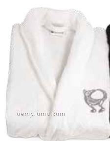 White Velura Robe (S-m)