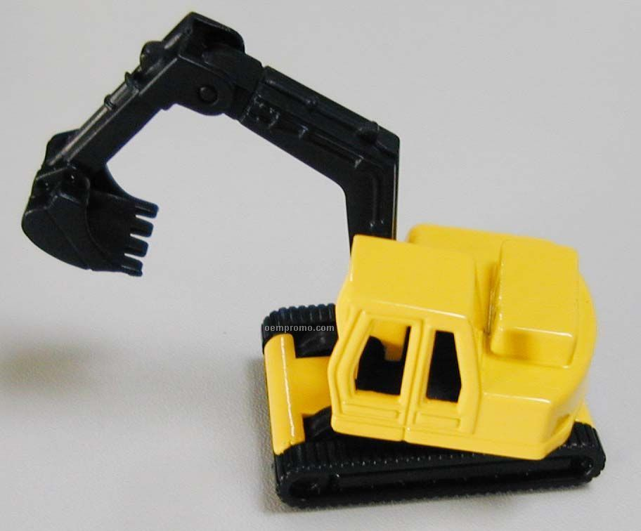 "3"" Yellow Crawler Excavator Die Cast Mini Vehicles Construction Vehicle"