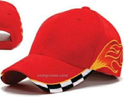 Checkered Flame Pattern Cap