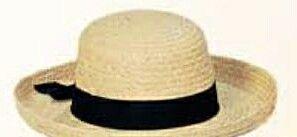 Ladies Straw Hat W/ Black Band