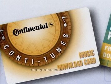Music Download Card - Preferred Distributor Pricing (1 Song)