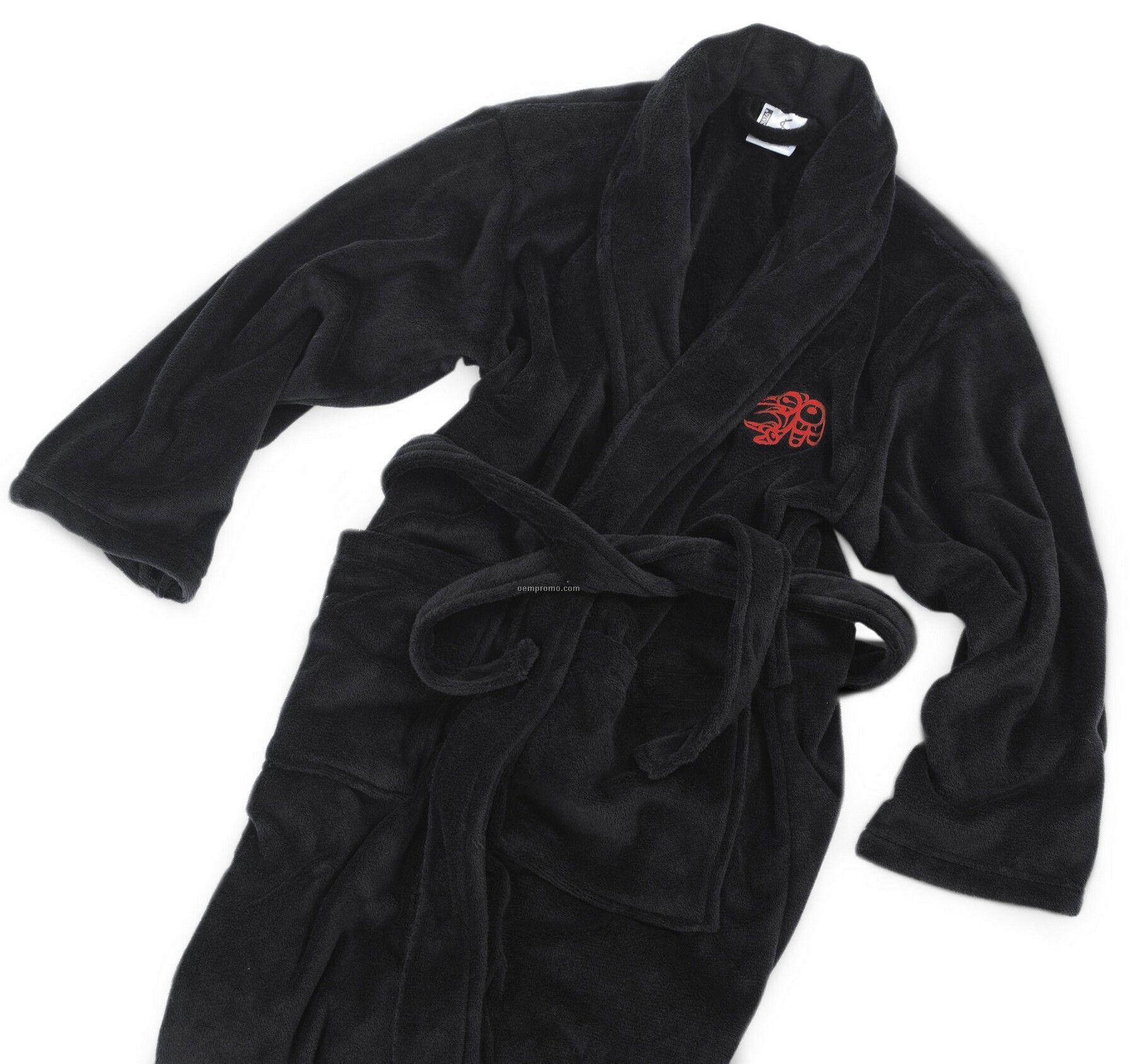 Black Velura Robe (S-m)