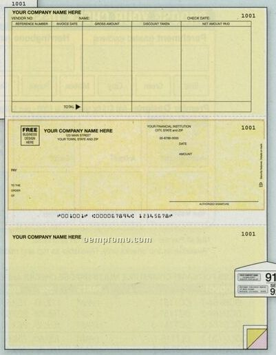 Laser Accounts Payable Check - Accpac Plus Compatible (3 Part)