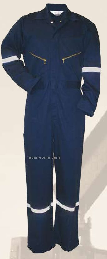 Walls 100% Cotton Coverall W/ Reflective Tape