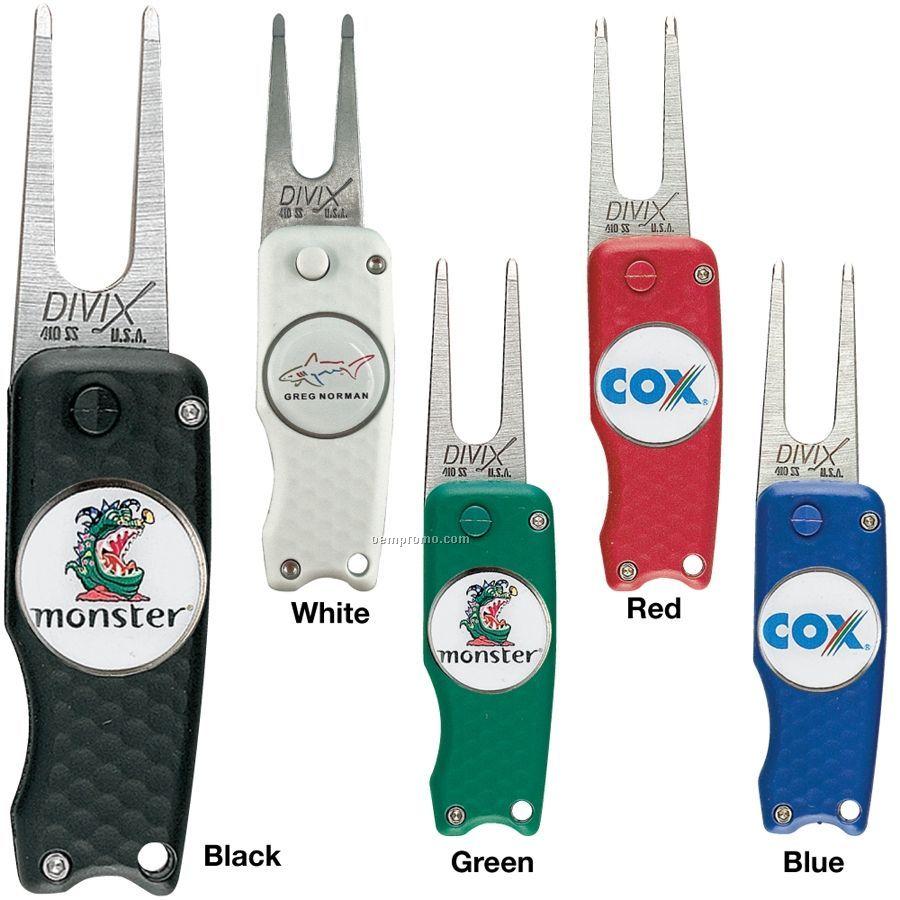 Divot Switch Blade Divot Repair Tool W/ Removable Ball Marker