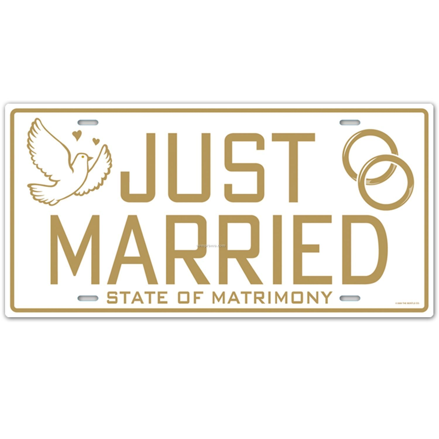 Just Married License Plate CutoutChina Wholesale Just