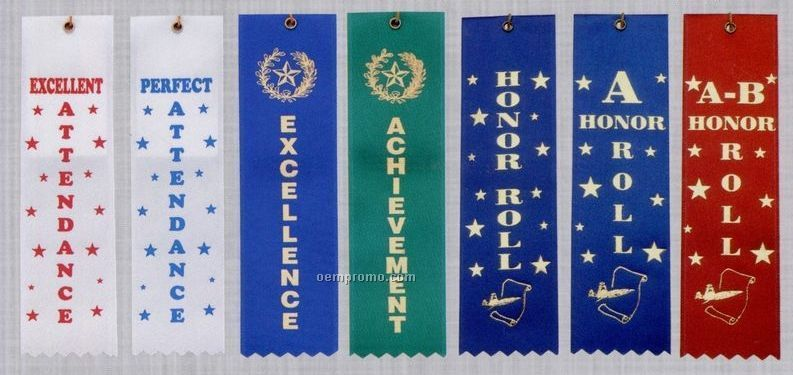 Stock Award Ribbon (Card & String) - A Honor Roll