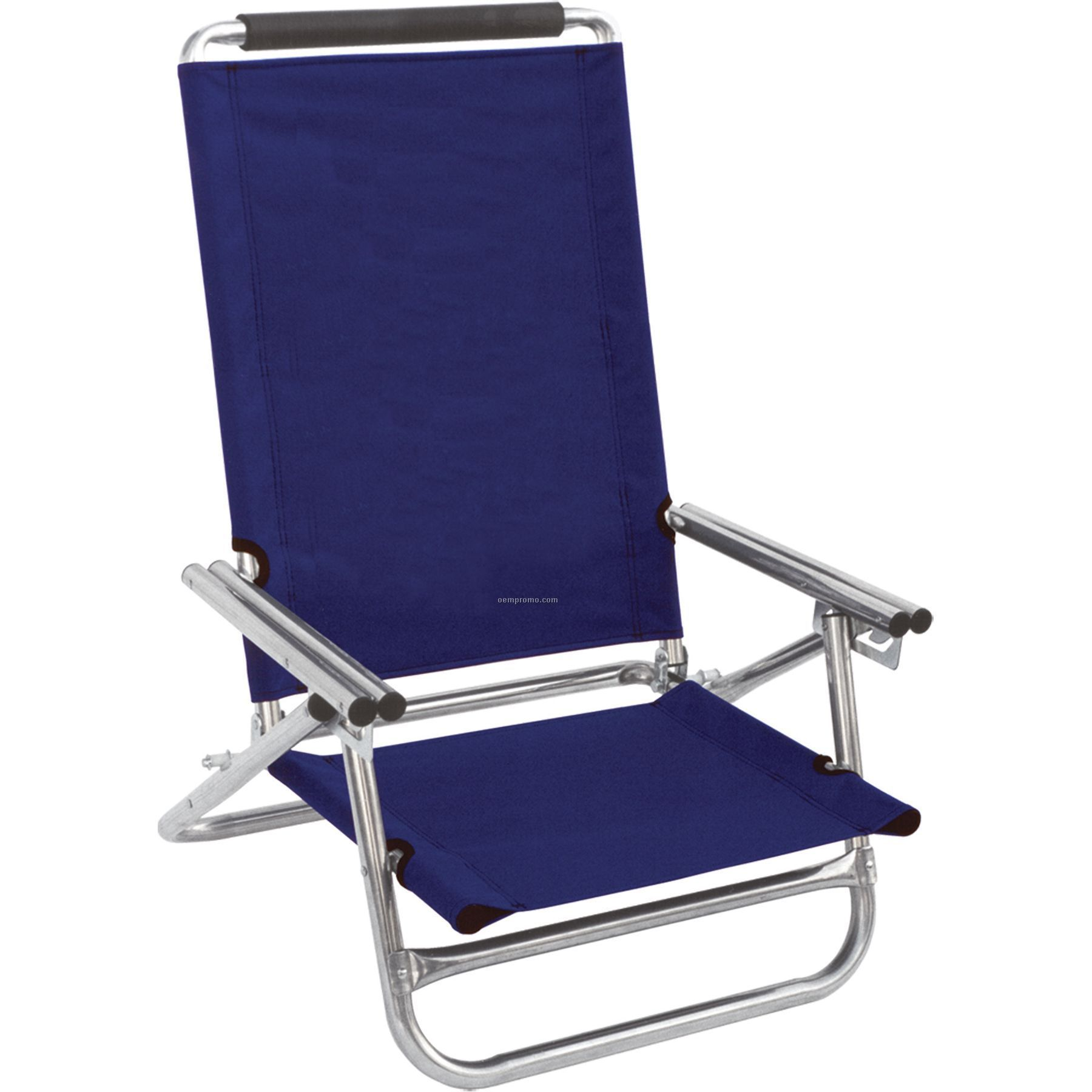 Us Made High Back Beach Recliner With Full Color Digital Imprint