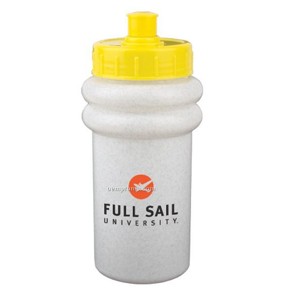 16 Oz. Budget Mini Muscle Bottle W/ Push Pull Lid
