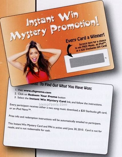 Instant Win Mystery Card