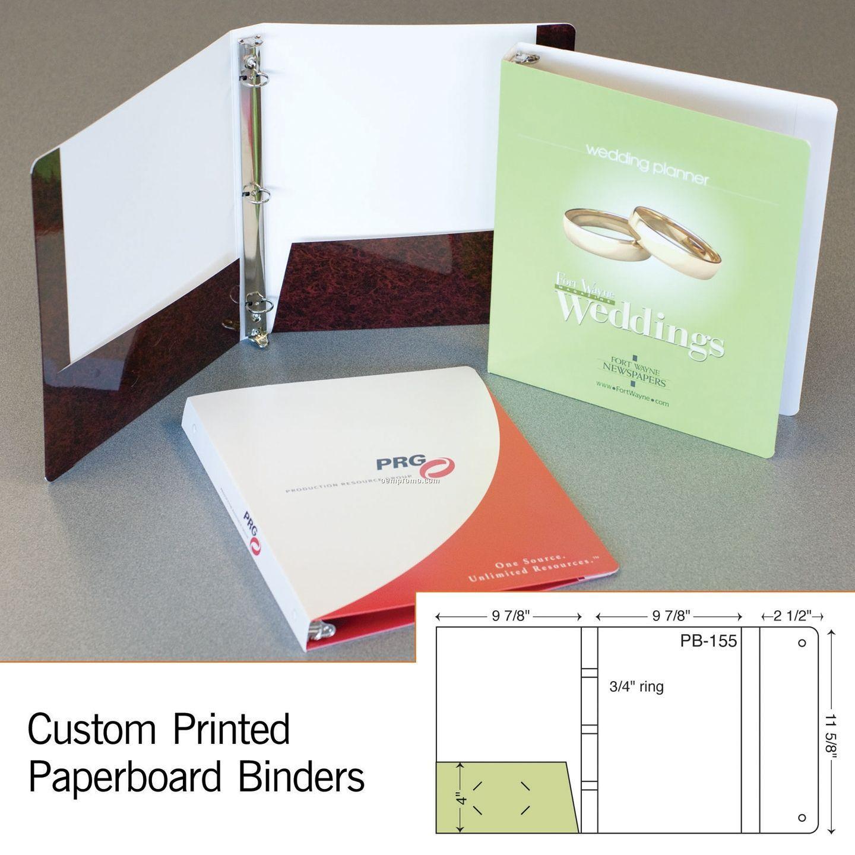 """Laminated 3 Ring Binder W/ 1 4"""" Pocket & Flap (1 Color/1 Side)"""