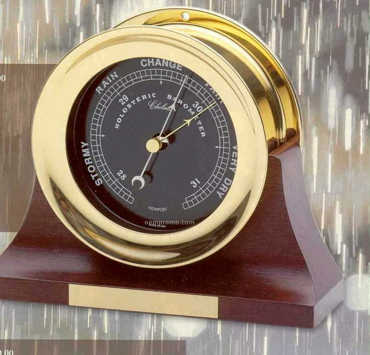 """Nautical Series Newport Flag Barometer With 4 1/2"""" Dial"""