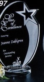 "Star Gallery Crystal Royal Star Award (9 1/2"")"