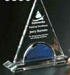 "Indigo Gallery Crystal Masters Tower Award (7 1/4"")"