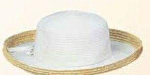 Ladies Braided Cotton W/ Straw Edge Hat