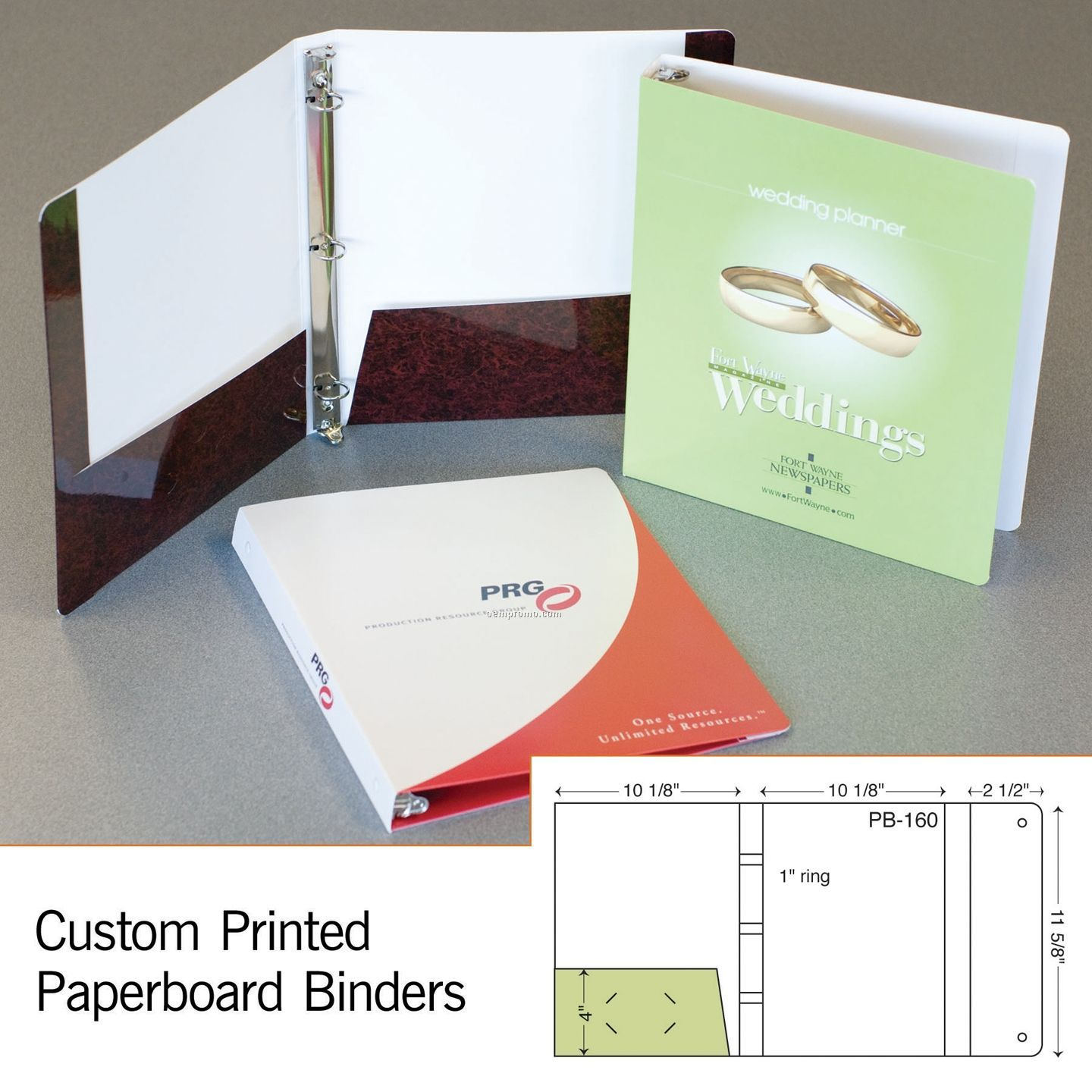 "Laminated 3-ring Binder W/ 1 4"" Pocket & Flap (1 Color/1 Side)"