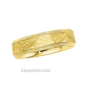 14kt 6mm Men's Comfort Fit Wedding Band Ring (Size 11)
