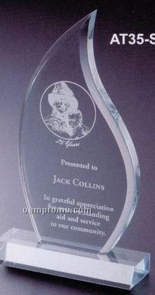 "Executive Series Flame Award W/ Base (7""X6 1/2"")"