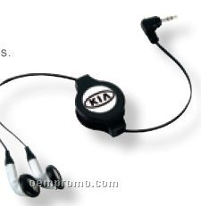 Mini Retractable Stereo Earphones