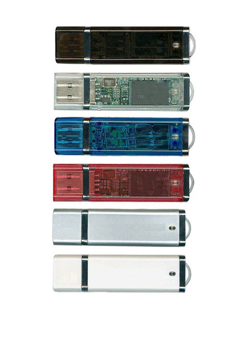 USB Flash Drive W/ Light Indicator/ De Model/ 2 Gb Memory