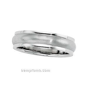 14kw 5mm Ladies Comfort Fit Wedding Band Ring (Size 7)