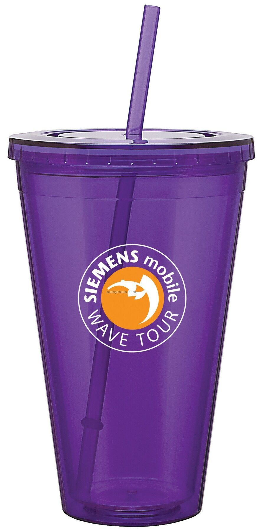 24 Oz. Purple Spirit Tumbler Cup