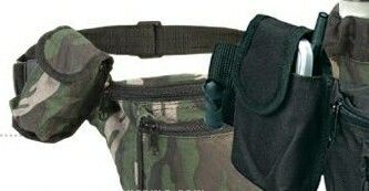Camouflage 3-zipper Fanny Pack