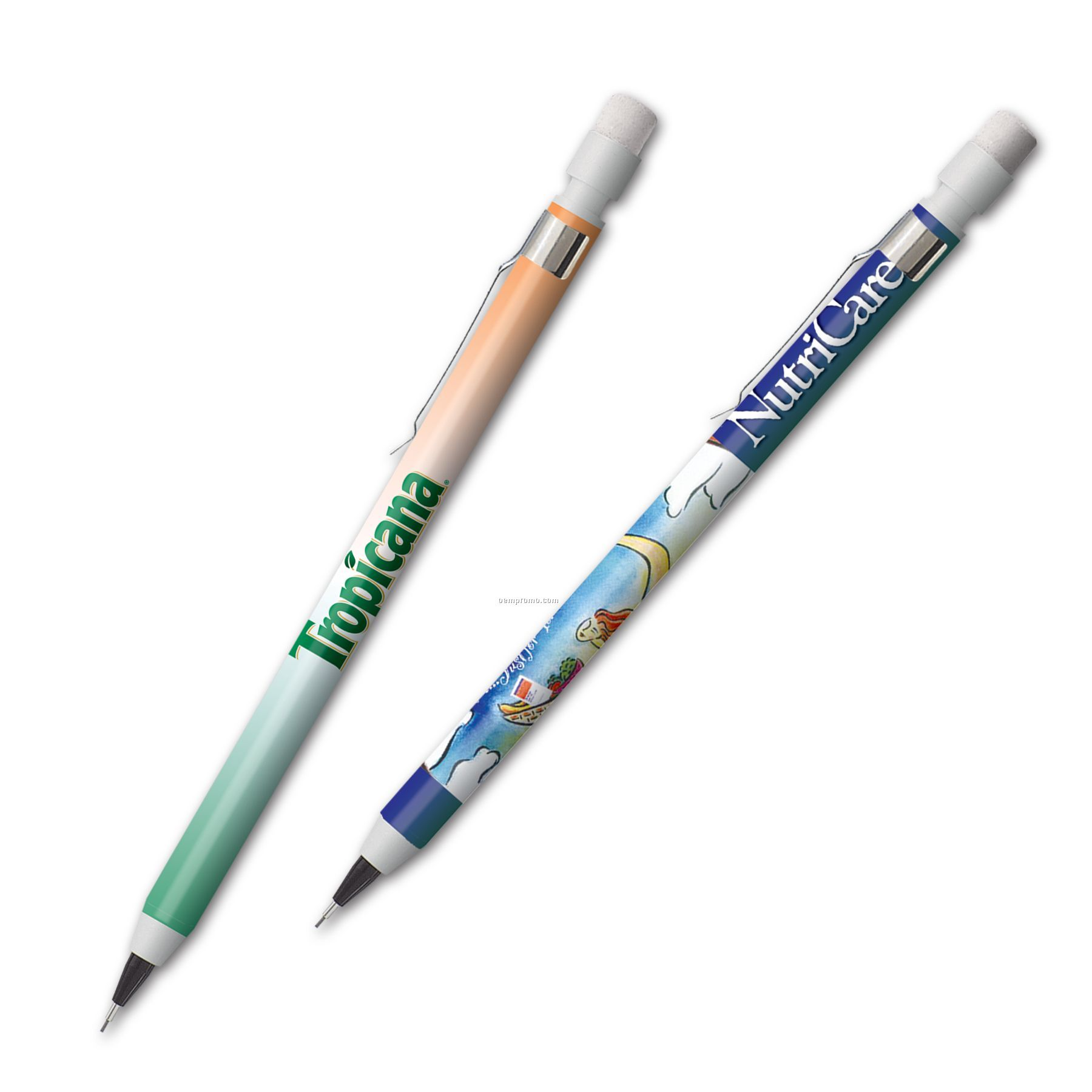 Full Color Mechanical Pencil With Clip