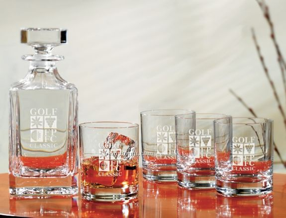 Set Of 4 Executive On The Rocks Glasses