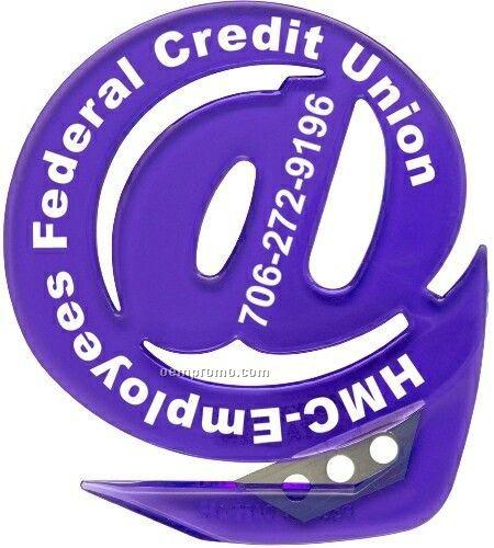 Translucent Grape Purple @ Sign Shape Letter Opener - Standard